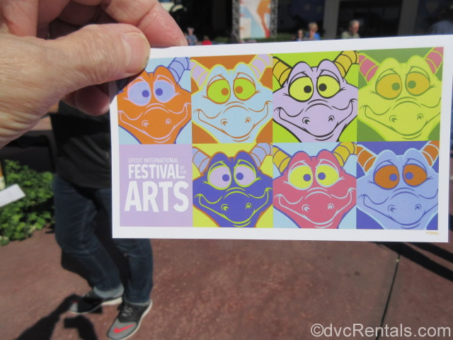 Postcard guests receive from the Paint by Number Mural at the Epcot International Festival of the Arts