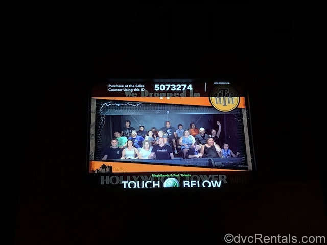 Ride picture from the Tower of Terror