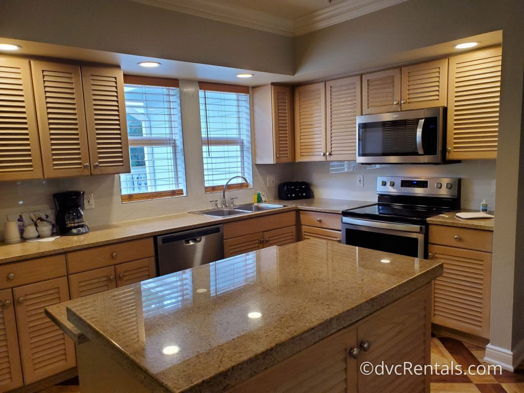 Kitchen in a 3 bedroom Grand Villa at Disney's Old Key West