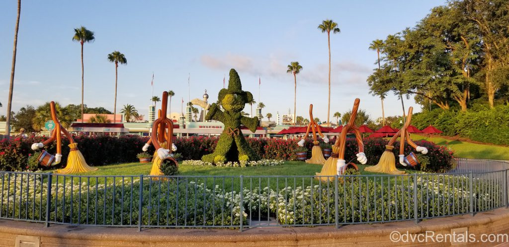 Mickey Mouse topiary in front of Disney's Hollywood Studios