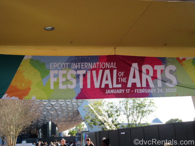 Sign for the Epcot International Festival of the Arts