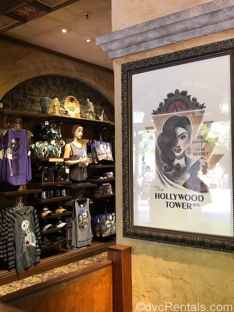 Gift shop at the Tower of Terror