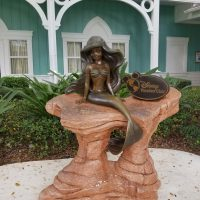 Ariel the Little Mermaid statue outside of Disney's Boardwalk Villas
