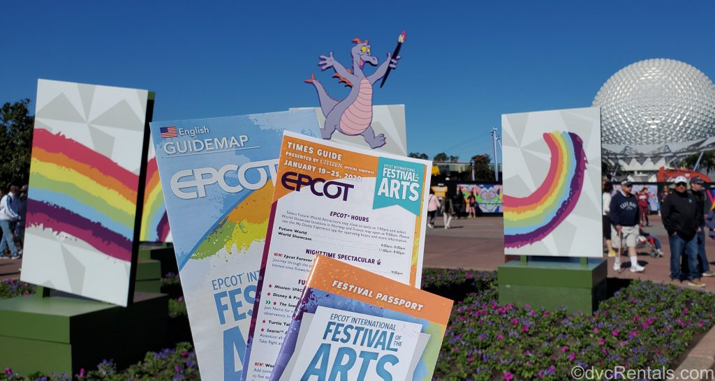 Times Guide for the Epcot International Festival of the Arts