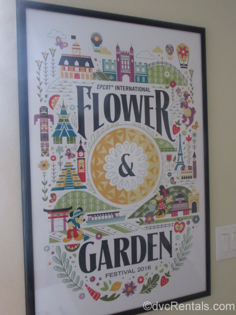 Poster form the Epcot International Flower and Garden Festival