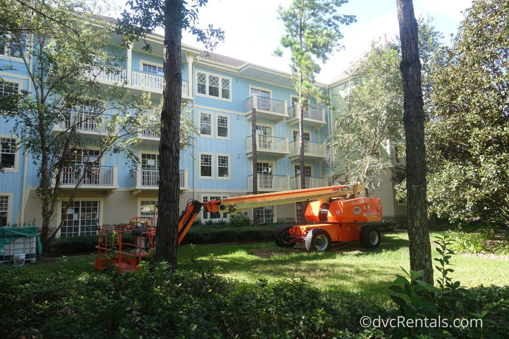 construction at Disney's Saratoga Springs Resort & Spa