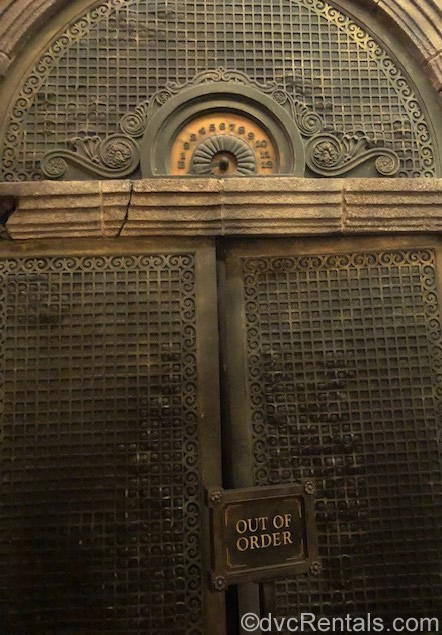 Out of Order Elevator at the Tower of Terror