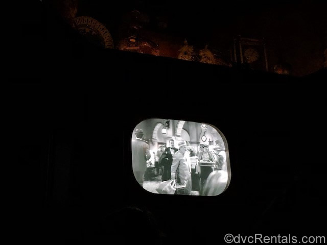 Library television at the Tower of Terror