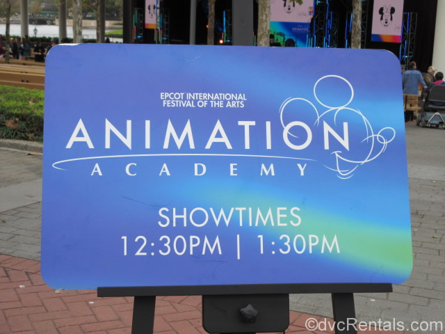 Animation Studios sign as the Epcot International Festival of the Arts
