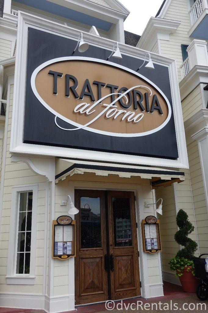 Trattoria al Forno restaurant sign