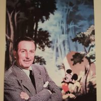 Walt Disney photo with Mickey Mouse