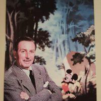 Walt Disney photo with Mickey Mouse