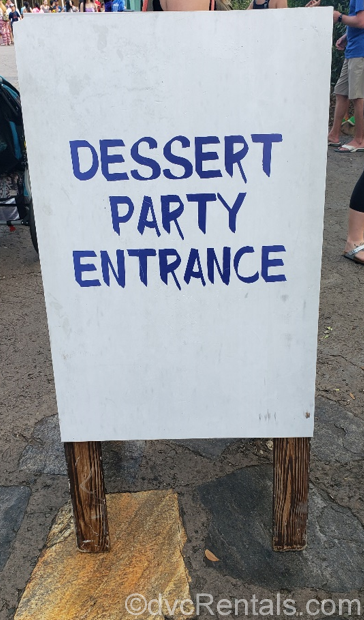 River's of Light Dessert Party entrance sign