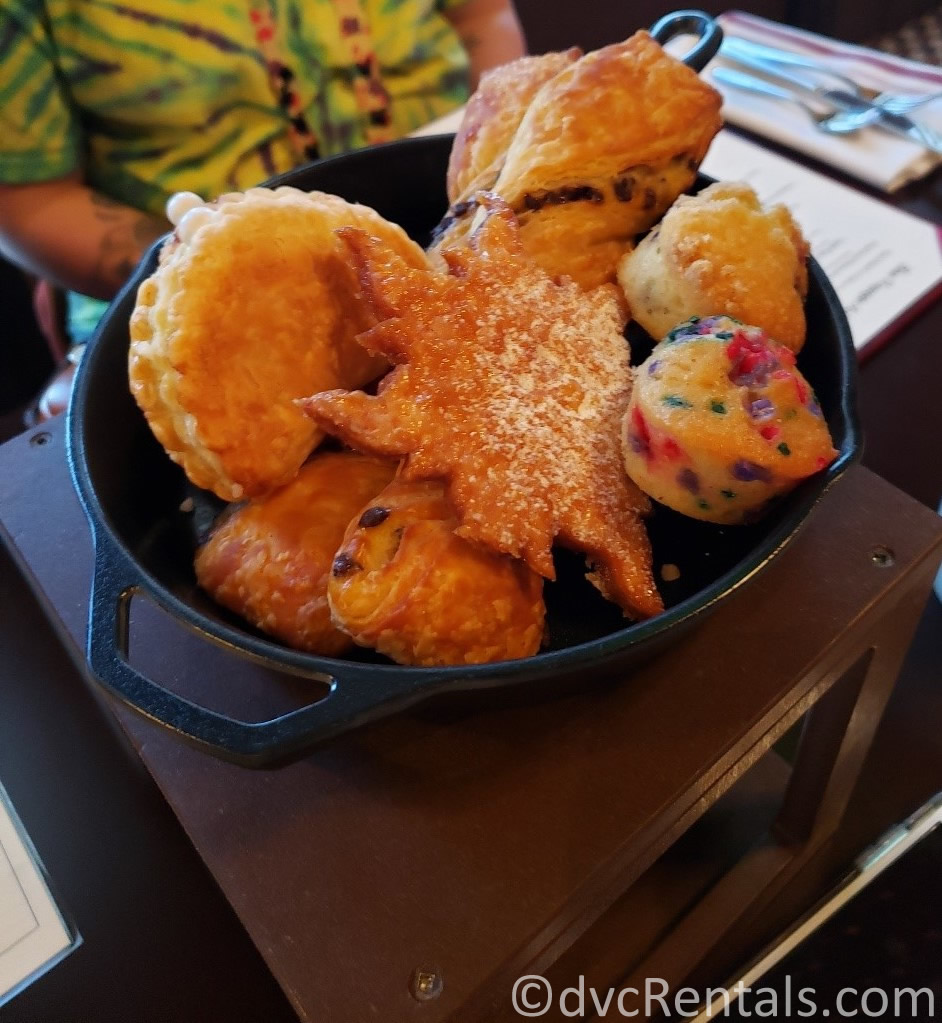 pastries served in a frying pan