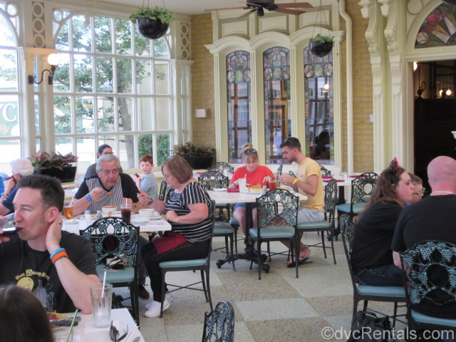 sunroom at Tony's Town Square restaurant