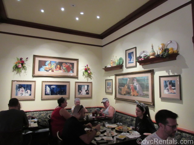Artwork throughout Tony's Town Square Restaurant
