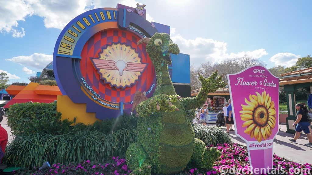 Figment Topiary at the Epcot International Flower and Garden Festival