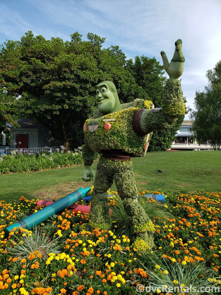 Buzz Lightyear Topiary at the Epcot International Flower and Garden Festival