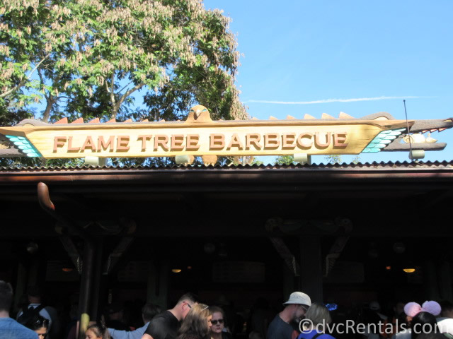 Flame Tree Barbeque restaurant at Disney's Animal Kingdom