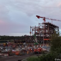 Construction of the Tron Coaster at the Magic Kingdom