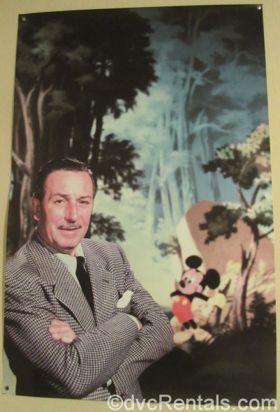 Poster of Walt Disney and Mickey Mouse