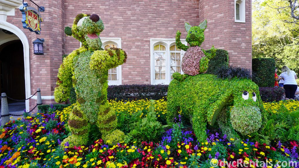Eeyore and Tigger Topiaries at the Epcot International Flower and Garden Festival