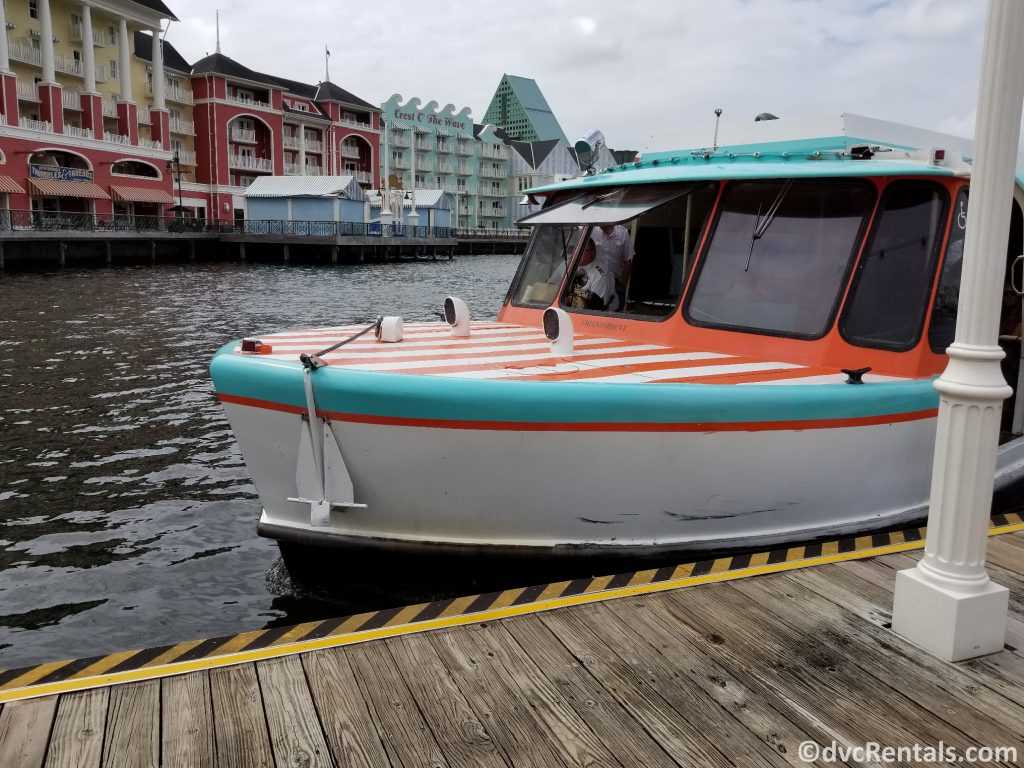 Friendship boat at Disney's Boardwalk Villas