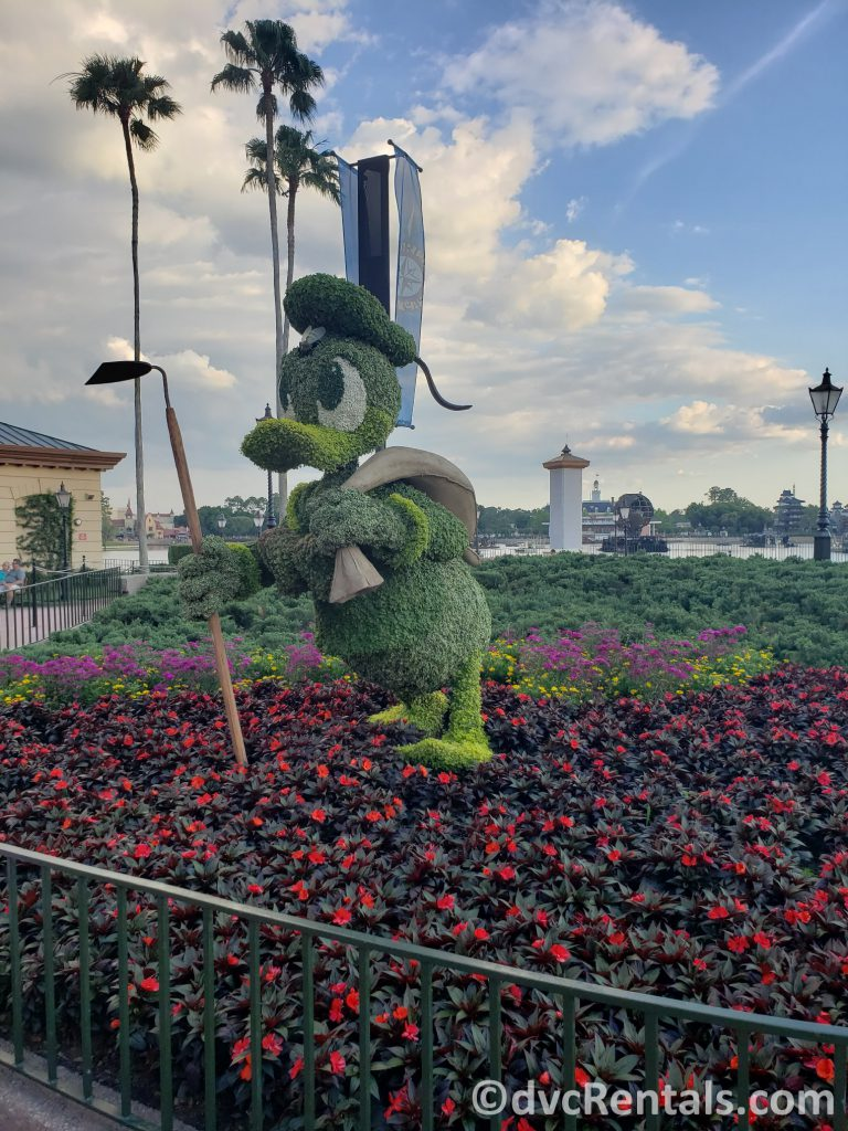 Donald Duck Topiary at the Epcot International Flower and Garden Festival