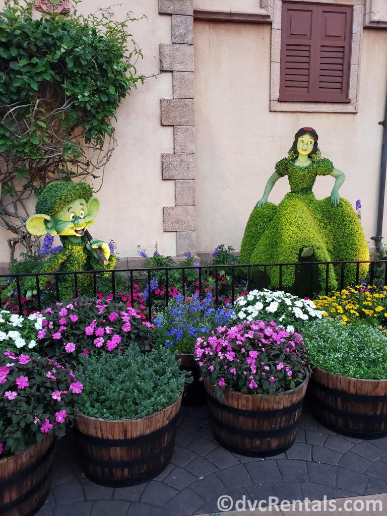 Snow White Topiary at the Epcot International Flower and Garden Festival