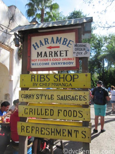 Harambe Market sign