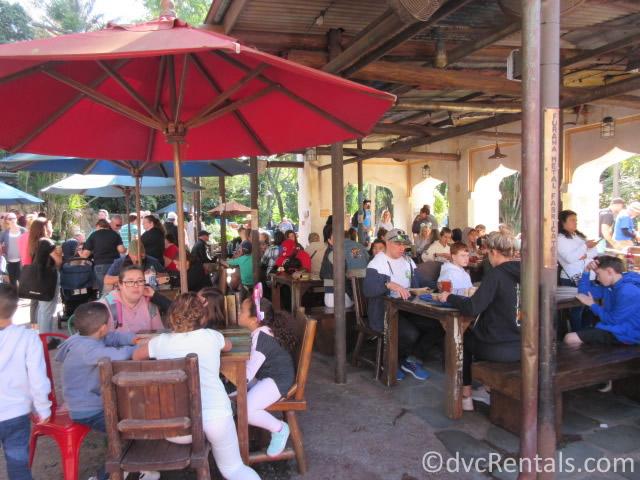 dining area at Harambe Market