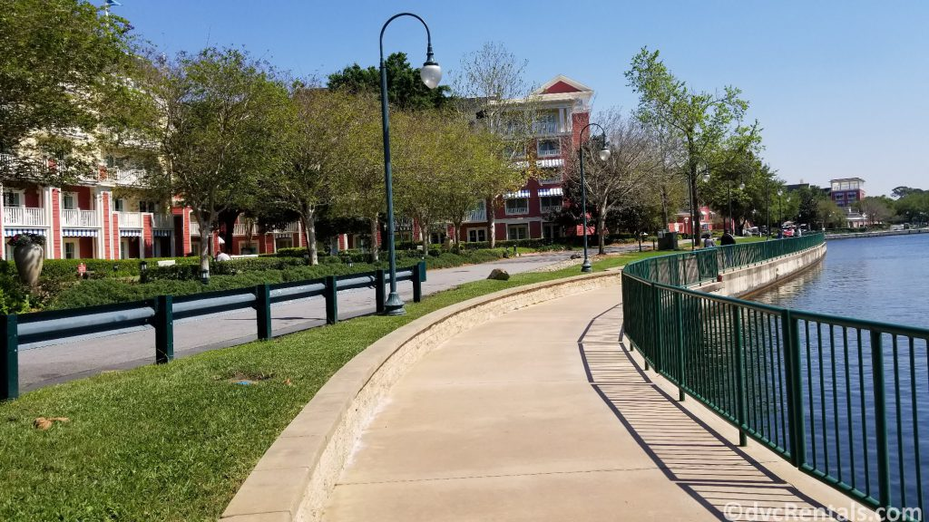 walking path from Disney's Boardwalk Villas to Disney's Hollywood Studios