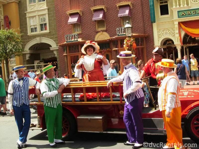 Dapper Dans and the Citizen's of Main Street at Disney's Magic Kingdom