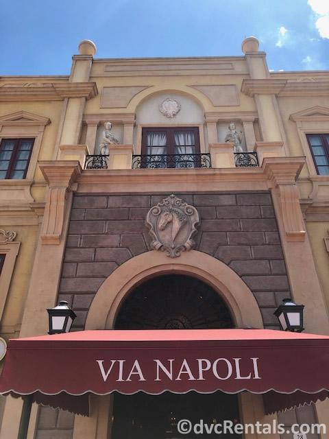 Entrance to Via Napoli Restuarant