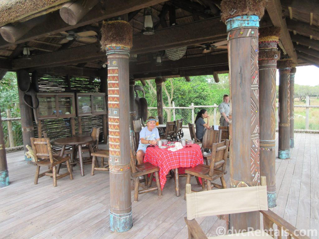 Dining area for the Wild Africa Trek