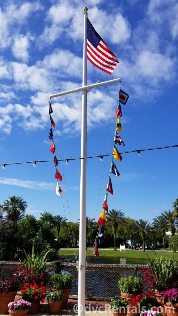 Nautical flags at Disney's Old Key West