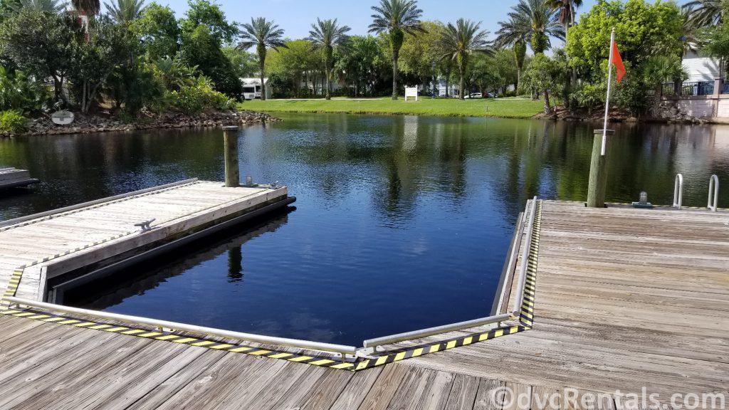 Boat dock at Disney's Old Key West
