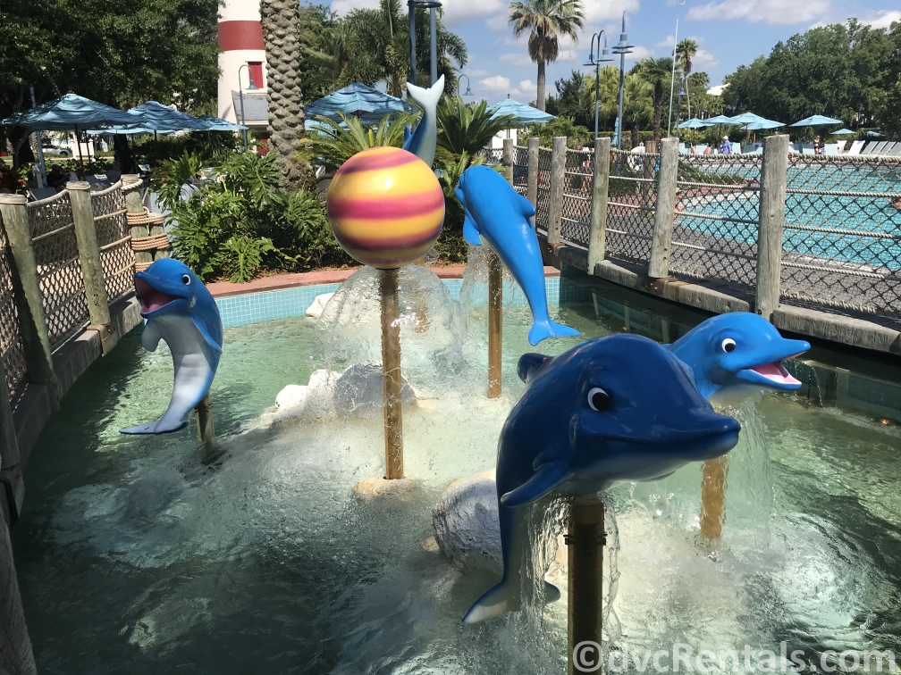 Dolphin fountain at Disney's Old Key West