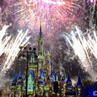 Fireworks at Cinderella Castle