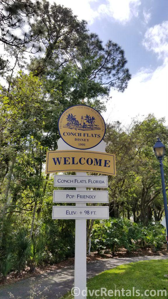 Population sign at Disney's Old Key West