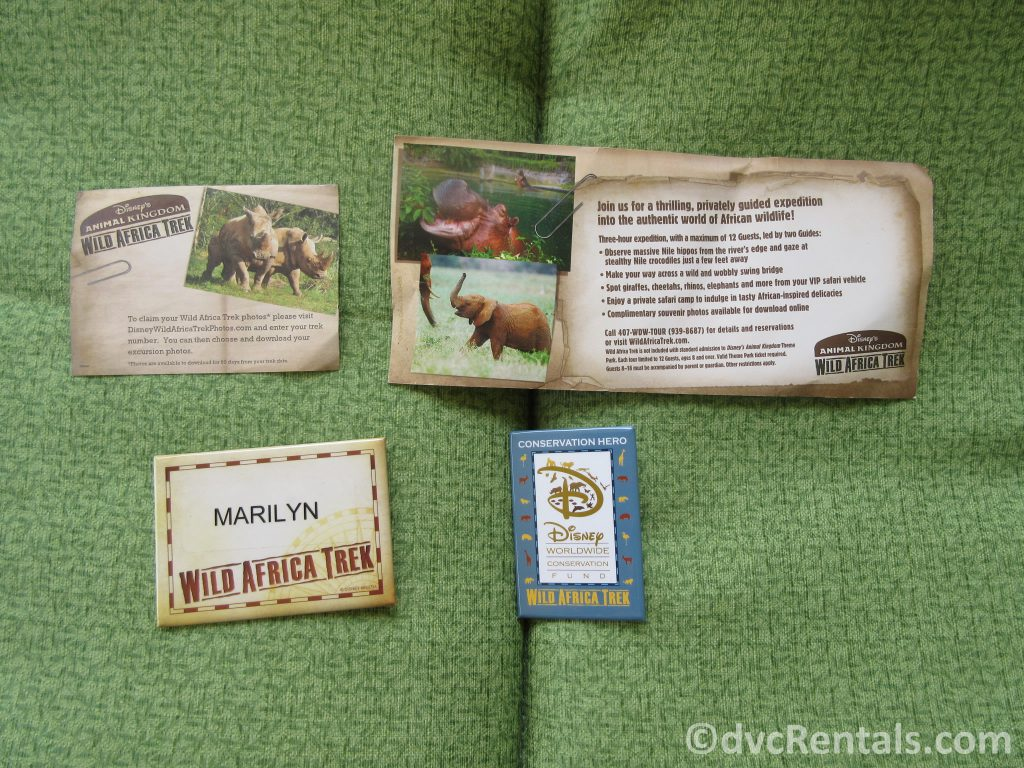 Wild Africa Trek name tag and pin