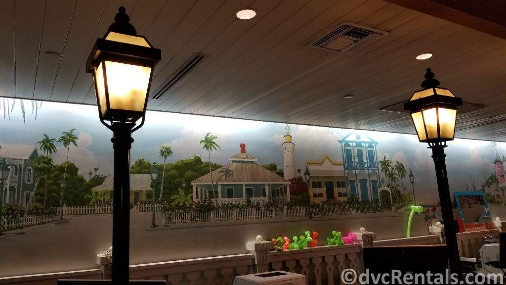 check-in area at Disney's Old Key West