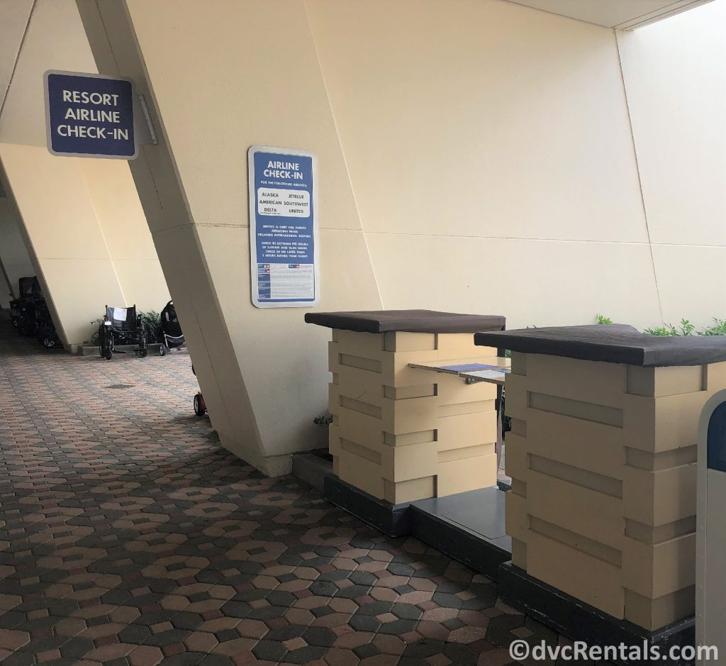Resort Airline check-in desk