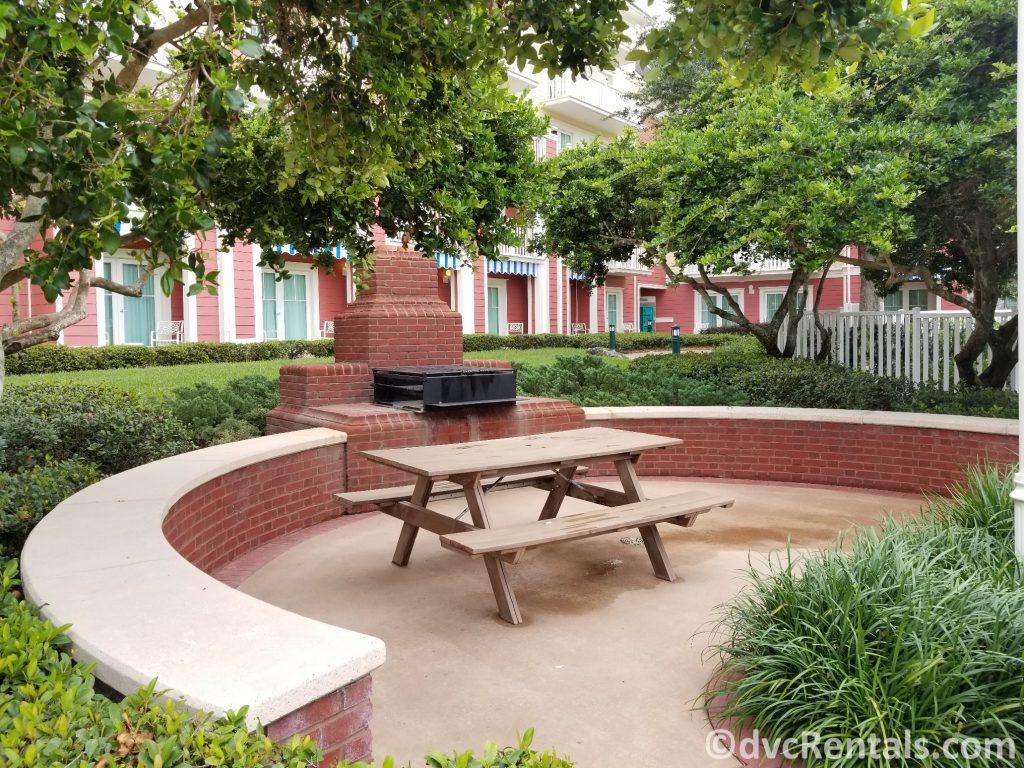BBQ area at Disney's Boardwalk Villas