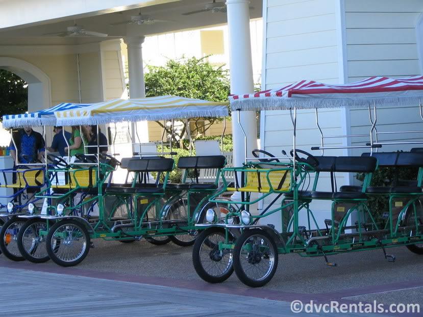 Surrey Bikes at Disney's Boardwalk Villas