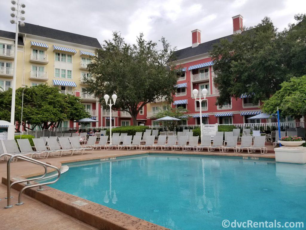 quiet pool at Disney's Boardwalk Villas