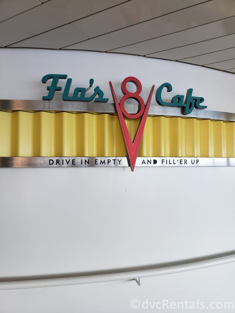 sign for Flo's Café