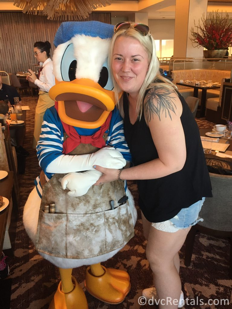 Team Member Allison with Donald Duck