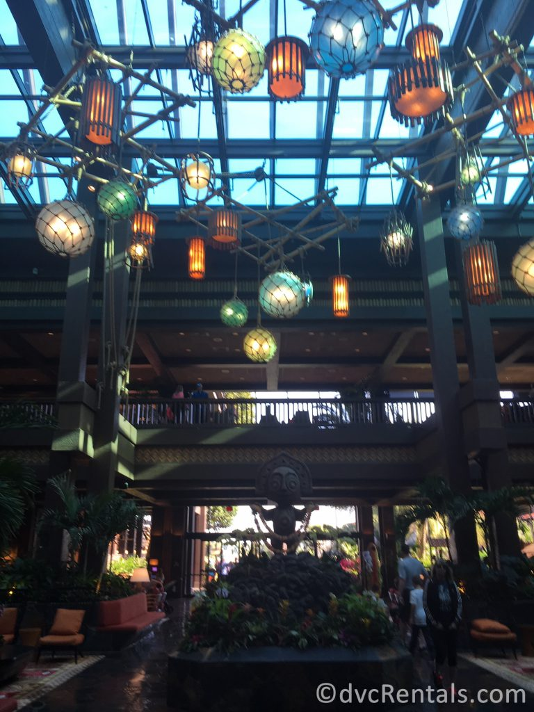 Lobby at Disney's Polynesian Villas & Bungalows