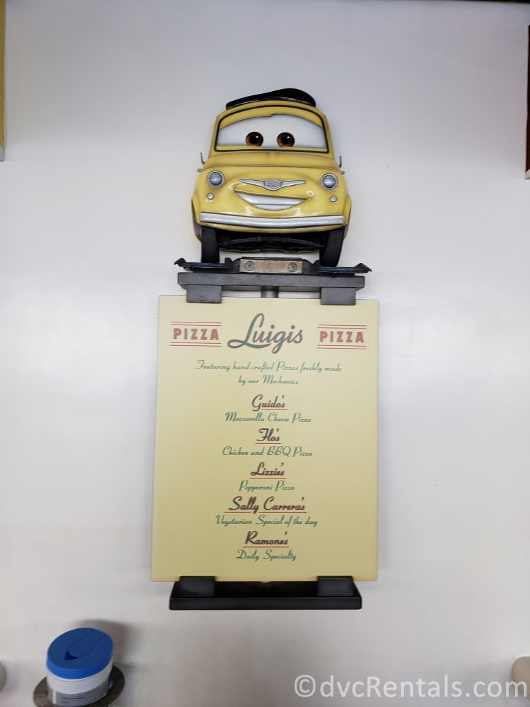 sign for Luigi's Pizza